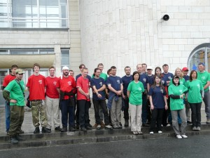 Часть нашей волонтёрской группы в Северобайкальске / The part of our volunteer group in Severobaikalsk