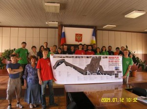 volunteers in Nizhneangarsk